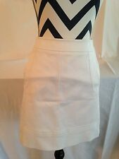 MISSONI WHITE COTTON BLEND STRAIGHT SKIRT MADE IN ITALY SIZE US 4
