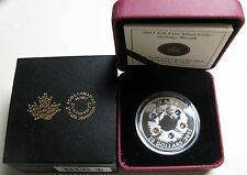 2013 Proof $20 Holiday Wreath w/ Swarovski Crystals Canada .9999 silver twenty d