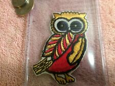 "Colorful WISE OWL PATCH Embroidered 2""x 3"" Night Bird Beautiful"