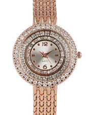 Rose Gold Studded with Diamonds Watch for Women Girls
