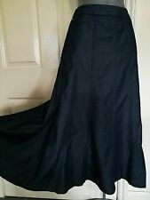 SKIRT 8 36 SMALL FINE BLUE DENIM JEANS LYOCELL COTTON GYPSY FULL M&S PER UNA