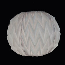 White Round Geometrical Shaped Folding Paper Lantern Shade