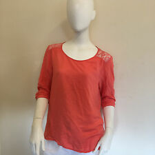 Atmosphere Ladies Stylish Lace Back Detail Bright Red Blouse UK Size 10