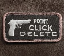 POINT CLICK DELETE TACTICAL ARMY DARK BLACK OPS VELCRO® BRAND FASTENER PATCH