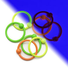 UV Glow 16ga Horseshoe Circular Spike Piercing Barbells for Lip ,Nose, Ear