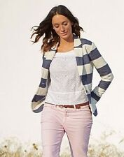 Ladies Crew Clothing Rowley Blazer. Nautical Striped. UK 12. New