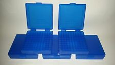 BERRY'S PLASTIC AMMO BOXES (5) BLUE 100 Round 9MM / 380 - FREE SHIPPING