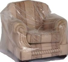 Polythene plastic armchair  cover. dust cover, protection, moving, storage. X 2