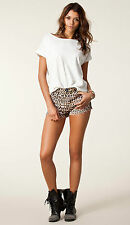 NWT One Teaspoon Desert Cat ROMEOS Shorts Planet Blue Nasty Gal Aus28 Sz 6  $132