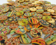 100 כפתורי עץ ליצירה