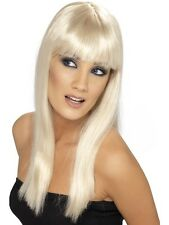 Lunga Donna Parrucca bionda di capelli lunghi con Pony Glamour nuovo