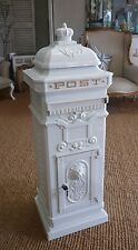 Large White Post box / Mail box white Pillar box Wedding card box royal mail box