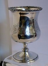 """SVx201 19th C COIN SILVER GOBLET CHALICE 5 inches h 6.2 oz engraved initial """"D"""""""