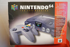 Nintendo 64 System Gray Console In Box CIB N64 Bundle Complete CIB Black *RARE*