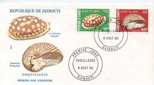 FIRST DAY COVER / PREMIER JOUR DJIBOUTI / COQUILLAGES 1980