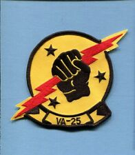 VA-25 FIST OF THE FLEET A-1 SKYRAIDER A-4 SKYHAWK CORSAIR Us Navy Squadron Patch