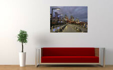 MELBOURNE CITY NIGHT NEW GIANT LARGE ART PRINT POSTER PICTURE WALL