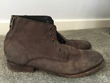 Men's All Saints Brown Zip Back Lace Up Boots UK 9 43 Good Condition