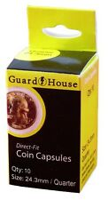 Guardhouse Quarter 24.3mm Direct Fit Coin Capsules, 10 pack
