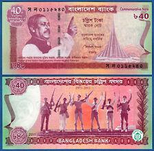 BANLADESCH / BANGLADESH 40 Taka 2011  UNC  P.60