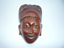 Old Chinese Wooden Hand Carved Small Mask