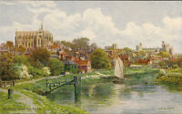 ARUNDEL (Sussex) : Arundel from the River -A.R.QUINTON-SALMON