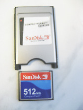 512MB Compact Flash Compactflash +PC card PCMCIA Adapter JANOME 512 MB