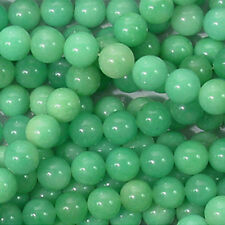 GREEN CANDY JADE 10MM ROUND GEMSTONE BEADS A+