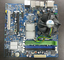 INTEL DG45ID LGA775 MOTHERBOARD WITH FAN AND CPU E5400