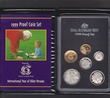 1999 Australia Proof Coin Set in Folder with outer Box & Certificate **