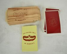 Les Grands Crux De Bordeaux Vino Poly Playing Cards French Wine Poker