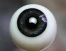 German Glass Eyes 24mm Full Round Black Blue Made Exclusively for Irresistables!