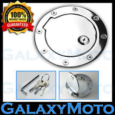 97-06 Jeep Wrangler TJ Chrome Replacement Gas Door Fuel Filler Cap Cover w/ Lock