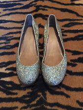 marc jacobs gold glitter ballet slipper flats 39.5