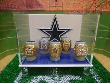 Dallas Cowboys S.B. Championship Ring Set & Championship Ring Display Case