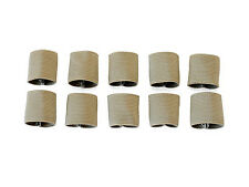 "1"" Mil-spec Elastic Webbing Strap Keepers - Tan 499 for Multicam & OCP - 10 Pack"