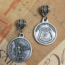 """Saint St Michael the Archangel Medal Pendant Police Badge Serve and Protect 3/4"""""""