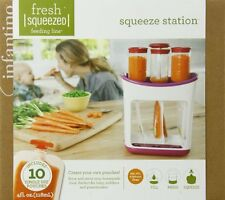 Infantino Squeeze Station 10 Pouches Baby Food Storage Set NEW