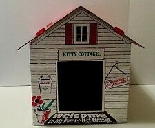 LARGE KITTY-CAT COTTAGE  (PET BOX HOUSES FOR CATS)  BY SILKSCREEN AMERICA INC.