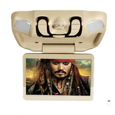 "In Beige Car Roof Mount Flip Down Overhead 15"" LCD DVD Player Games IR"