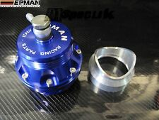 EPMAN UNIVERSAL BLUE 50mm BLOW OFF VALVE WELD ON ADAPTER BOV TURBO JDM