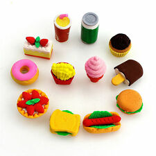 Novelty Funny Cute Food Rubber Pencil Eraser Stationery Sets Children Party Gift