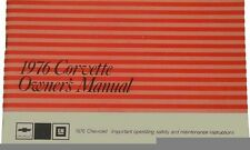 1976 OWNERS MANUAL C3 CORVETTE - OPERATIONS MANUAL - NEW - WE SHIP WORLD WIDE -
