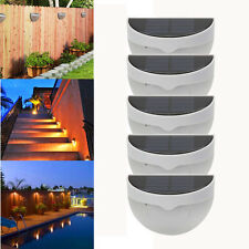 5X Outdoor Solar Power LED Wall Light 6 LED Landscape Garden Fence Lamp Light