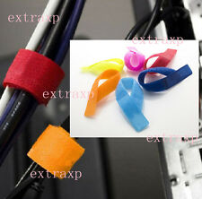 7XUseful Strap Wrap Wire Organizer Cable Tie Rope Holder for Laptop PC TV