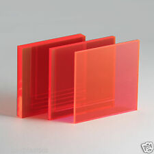 Perspex Acrylic Fluorescent Sheet / Red, Blue, Green, Yellow, Orange
