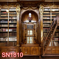 Indoor Library Bookcase 10x10  FT CP SCENIC PHOTO BACKGROUND BACKDROP SN1810