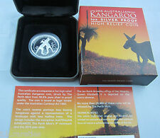 2010 Australia High Relief Silver proof Kangaroo. Complete with COA and top cond