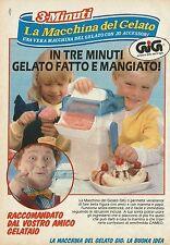 X2227 La macchina del gelato GIG - Pubblicità 1989 - Advertising