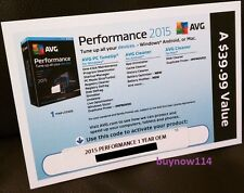 AVG Performance PC TuneUp 2015 Unlimited Devices 1 Year - Key Card (No CD)